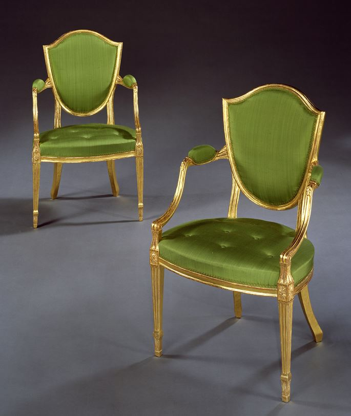 A PAIR OF GEORGE III GILTWOOD ARMCHAIRS | MasterArt