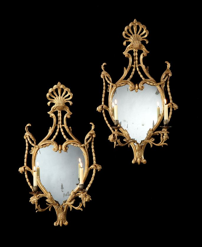 William France - A PAIR OF GEORGE III GILTWOOD GIRANDOLES | MasterArt