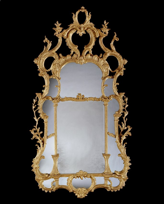 A PAIR OF GEORGE III GILTWOOD MIRRORS  | MasterArt