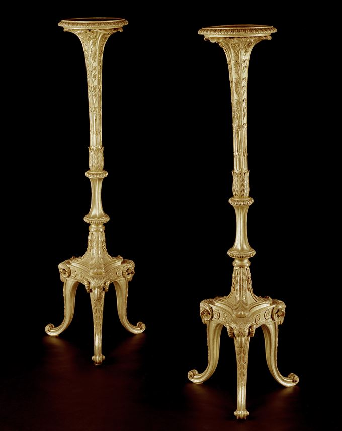 A PAIR OF GEORGE III GILTWOOD TORCHÉRES  | MasterArt