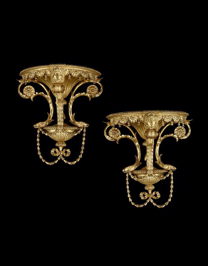 A PAIR OF GEORGE III GILTWOOD WALL BRACKETS | MasterArt