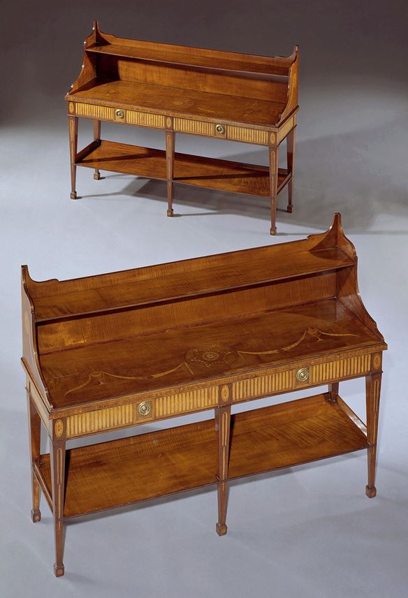 Mayhew & Ince - A PAIR OF GEORGE III HAREWOOD SIDE TABLES | MasterArt