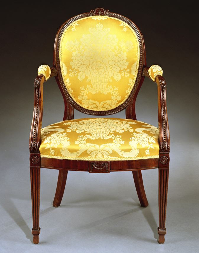 Gillows Of Lancaster - A PAIR OF GEORGE III MAHOGANY ARMCHAIRS | MasterArt