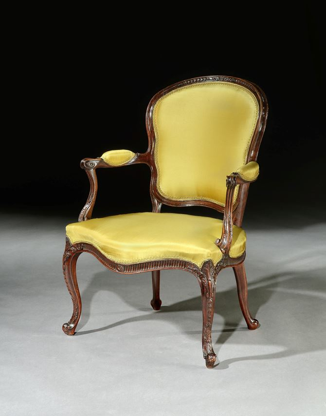 A PAIR OF GEORGE III MAHOGANY OPEN ARMCHAIRS | MasterArt