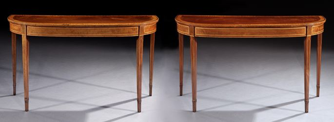 A PAIR OF GEORGE III MAHOGANY SIDE TABLES | MasterArt