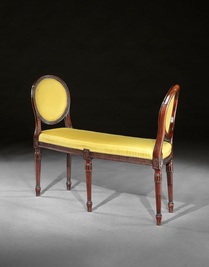 A PAIR OF GEORGE III MAHOGANY WINDOW SEATS | MasterArt