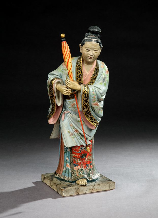 A PAIR OF GEORGE III POLYCHROME PAINTED CHINESE FIGURES | MasterArt