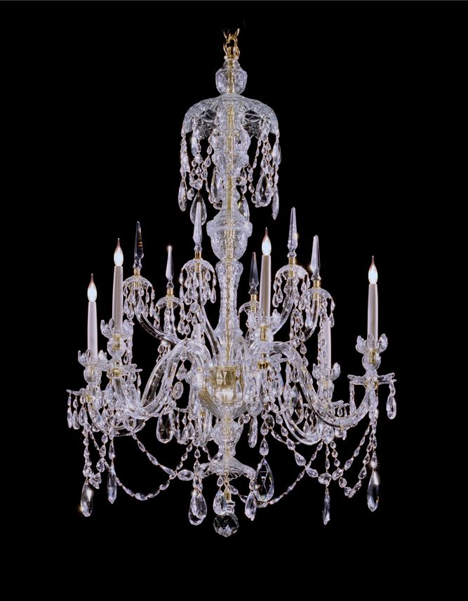 A PAIR OF GEORGE III STYLE CHANDELIERS | MasterArt