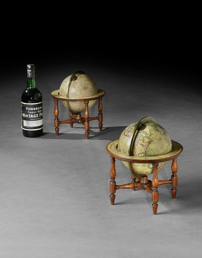 A PAIR OF GEORGE IV 6 INCH TABLE GLOBES BY CARY | MasterArt