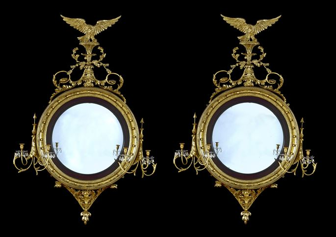 A PAIR OF REGENCY CONVEX MIRRORS   | MasterArt