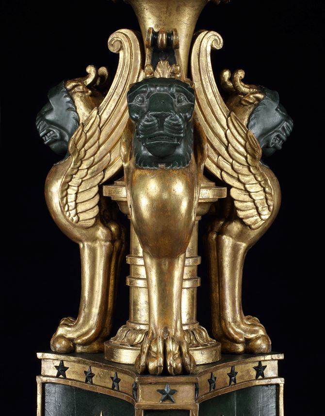 A PAIR OF REGENCY PARCEL GILT TORCHÈRES IN THE MANNER OF GEORGE SMITH  | MasterArt