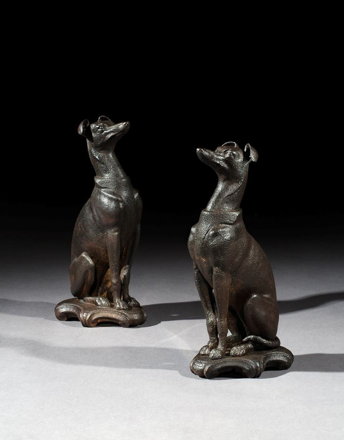 A pair of Victorian cast iron whippets | MasterArt