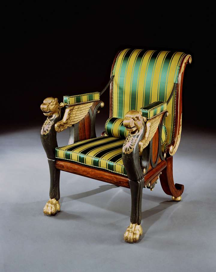 A REGENCY RECLINING CHAIR