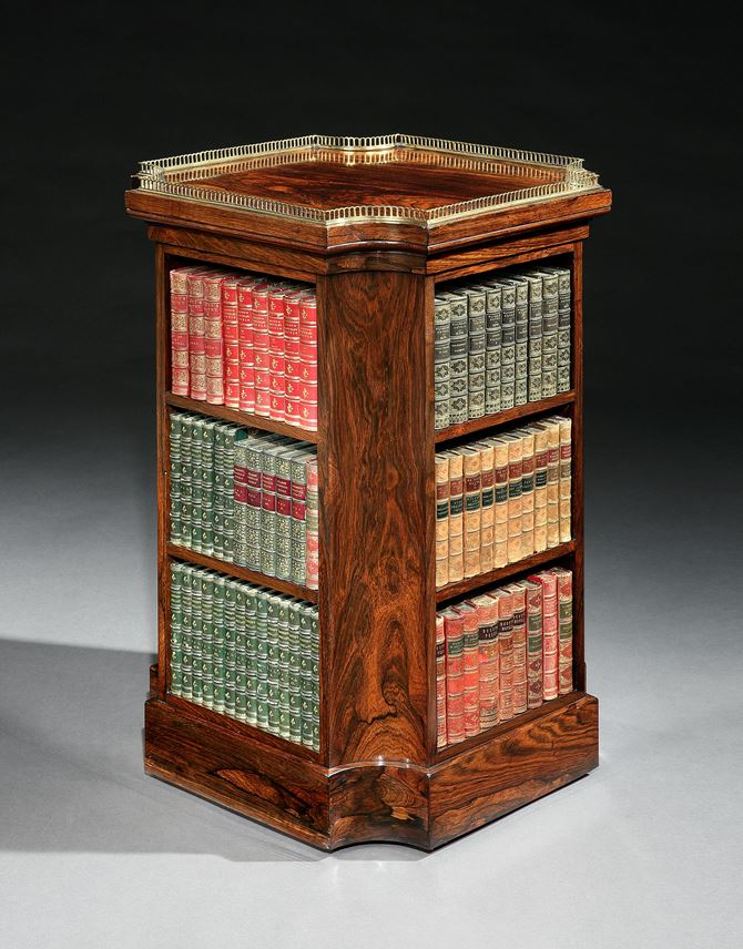 A REGENCY ROSEWOOD BOOKCASE | MasterArt