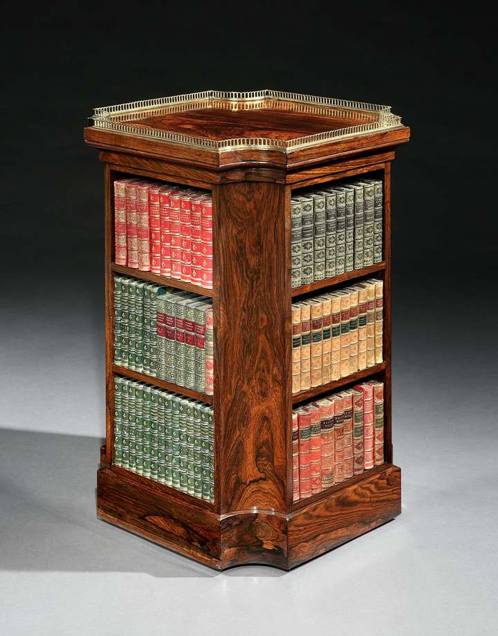 A REGENCY ROSEWOOD BOOKCASE
