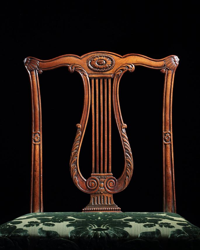 A SET OF TWELVE GEORGE III DINING CHAIRS ATTRIBUTED TO THOMAS CHIPPENDALE | MasterArt