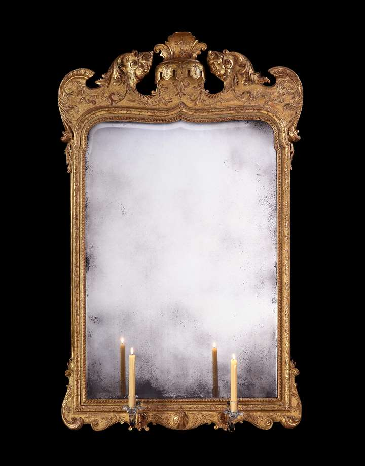 A George I gesso and giltwood mirror