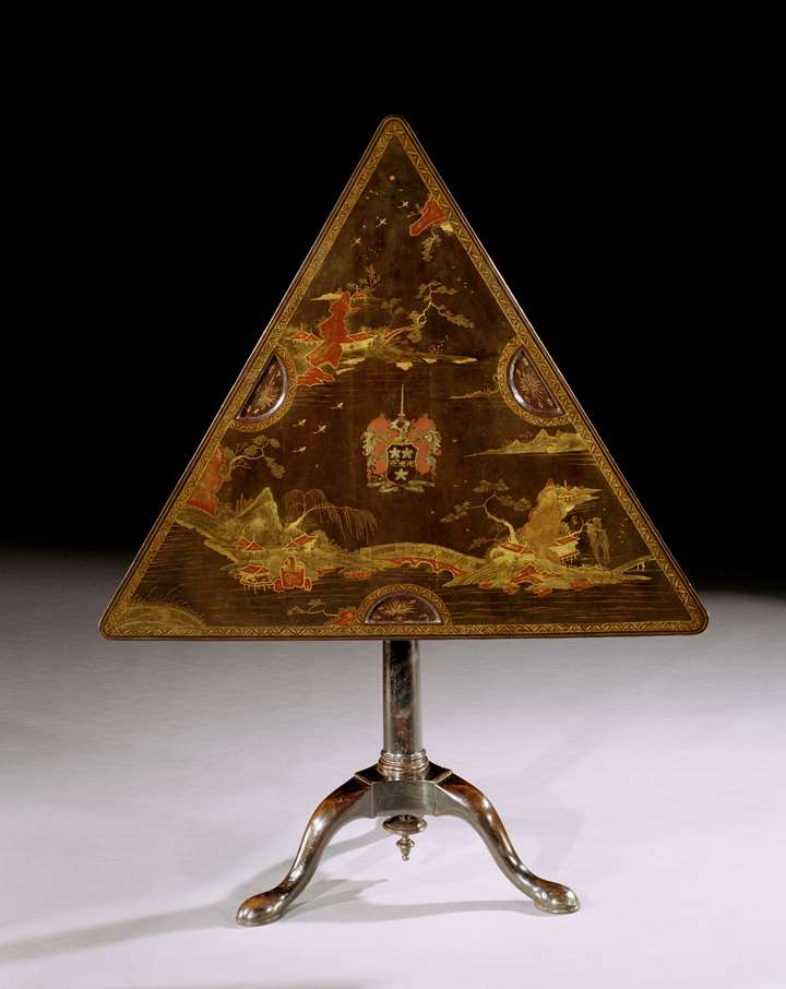 JAMES CRAGGS THE ELDER'S TRIANGULAR GAMES TABLE