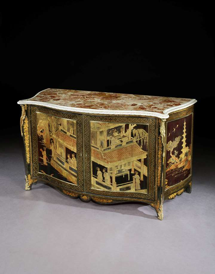THE ASHBURNHAM PLACE LACQUER COMMODES