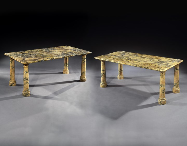 THE BANTRY HOUSE SIENA MARBLE TABLES