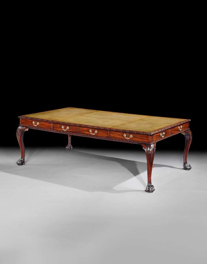 THE CHESTERFIELD HOUSE LIBRARY TABLE WITH ROYAL PROVENANCE