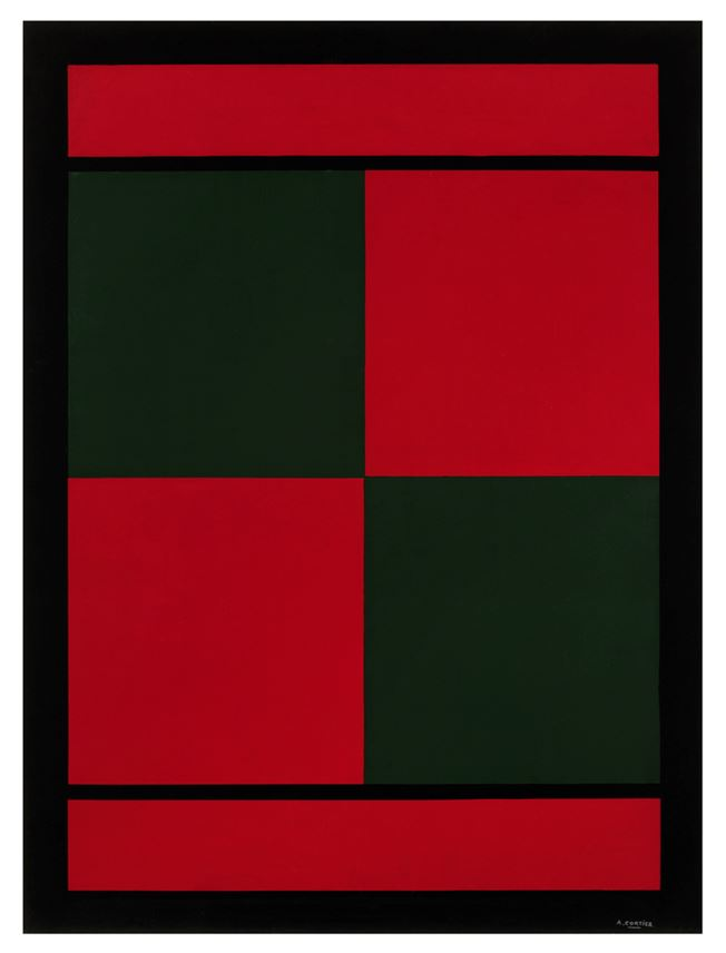 Amédée Cortier - Red and green squares | MasterArt
