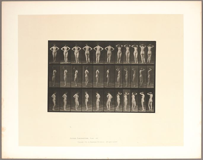 Eadweard Muybridge - Nude woman spinning with hands on hips | MasterArt