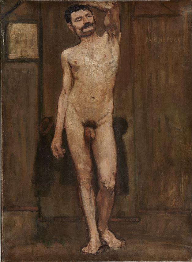 Henri Evenepoel - Study of the naked man | MasterArt