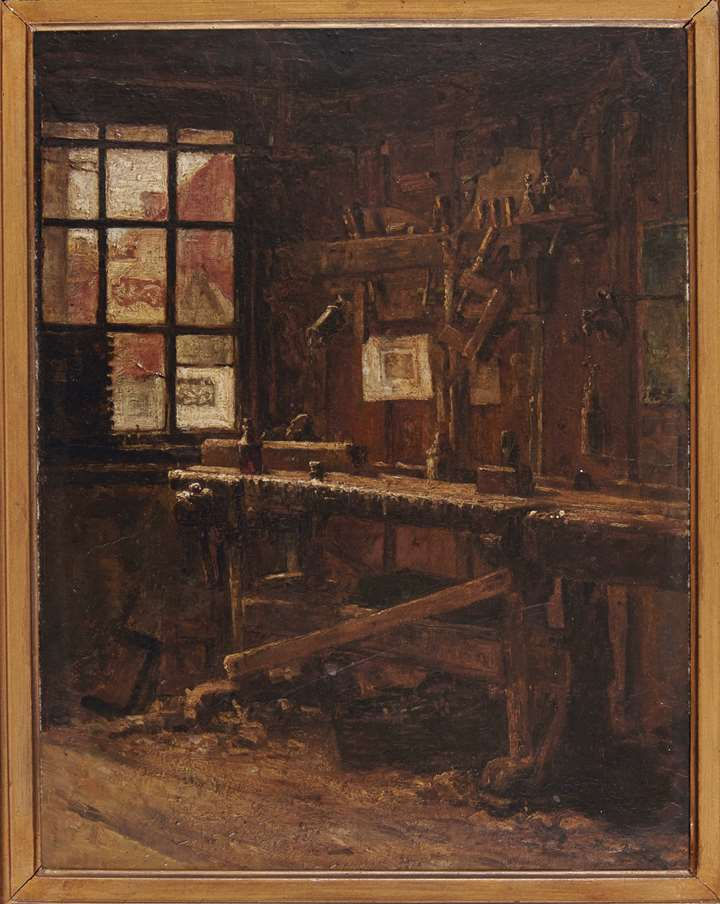 Interior of a carpenters workshop