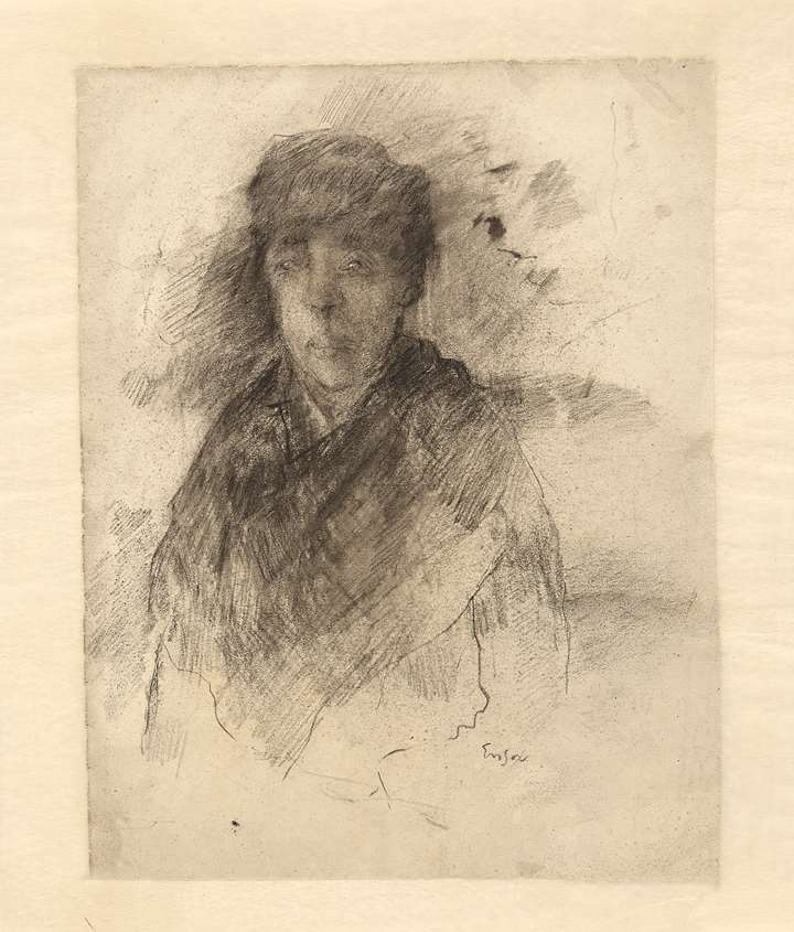 The artist's sister (verso Studies of his sister)