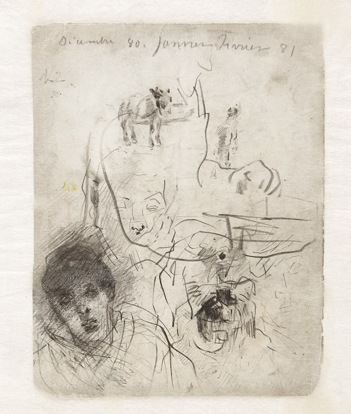 James Ensor - The artist's sister (verso Studies of his sister) | MasterArt