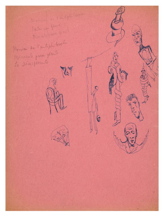 Tristan Tzara - Composition and automatic drawing,  50 original drawings forming two compositions  | MasterArt
