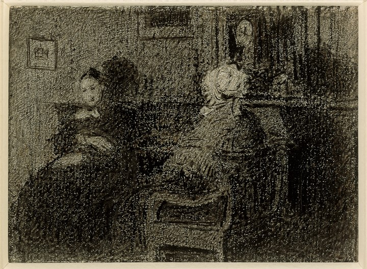 Two women in interior, n.d.