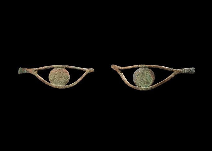 Pair of Egyptian eye inlays | MasterArt