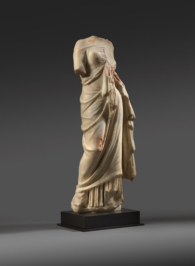 Roman marble figure of a woman | MasterArt