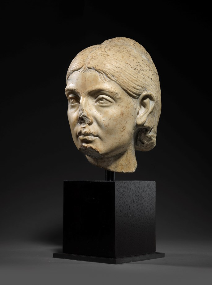 Roman marble portrait head of a woman | MasterArt