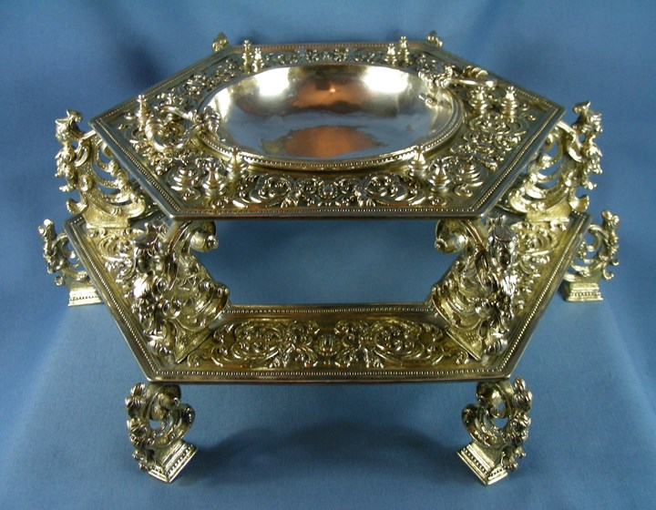 17th century Spanish silver gilt brazier