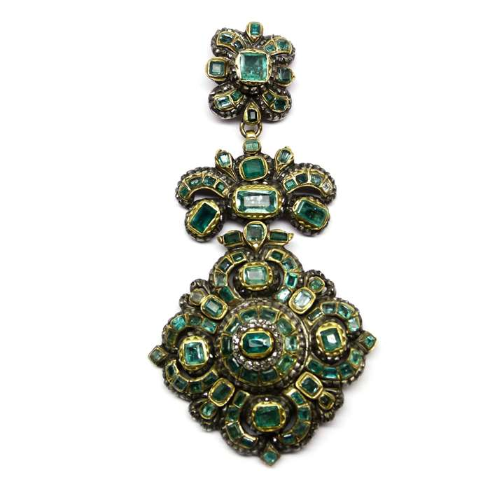 17th century emerald and diamond pendant