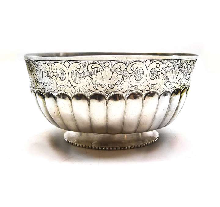 18th century Colonial Spanish silver bowl