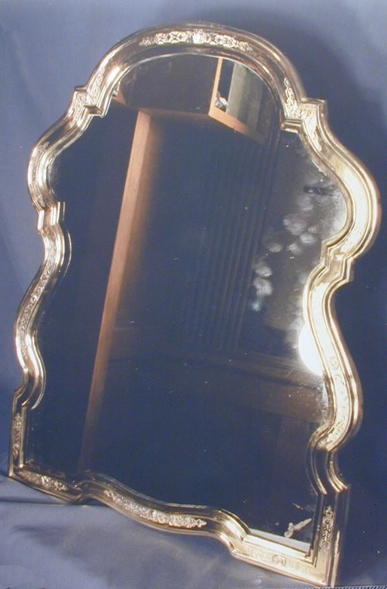 18th century German silver gilt mounted toilet mirror | MasterArt