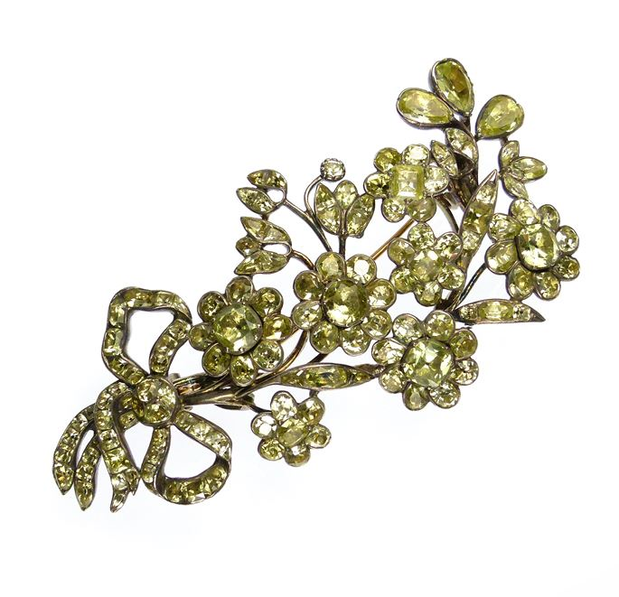 18th century Portuguese chrysolite spray brooch | MasterArt