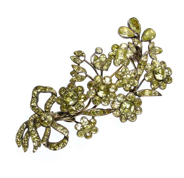 18th century Portuguese chrysolite spray brooch
