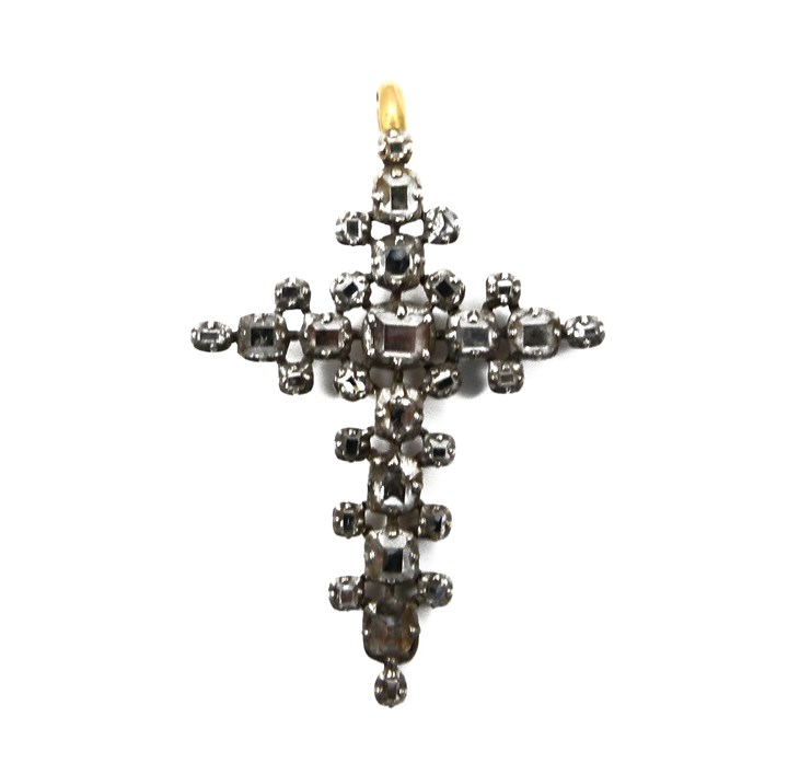18th century table cut diamond cross pendant, Iberian