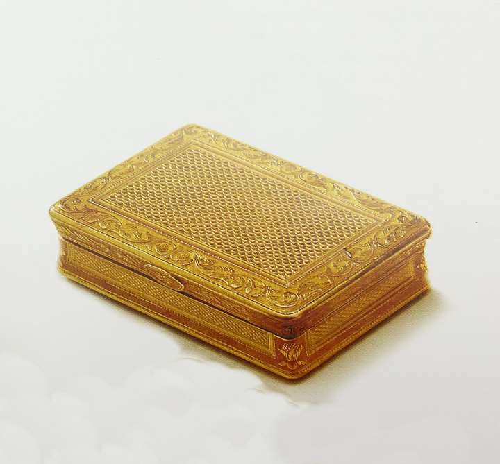 French rectangular gold box by Simon Achille Leger