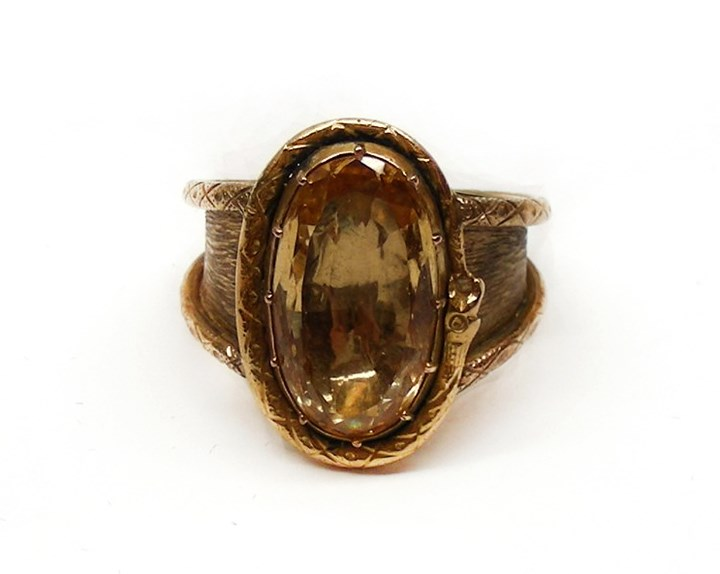 19th century topaz and gold ring