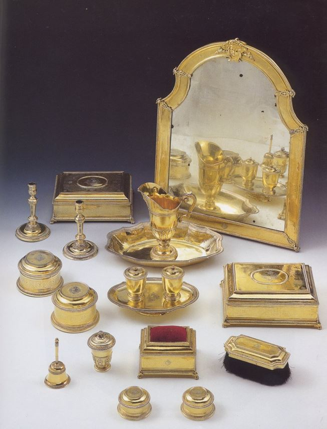 Antique Spanish silver gilt toilet set | MasterArt
