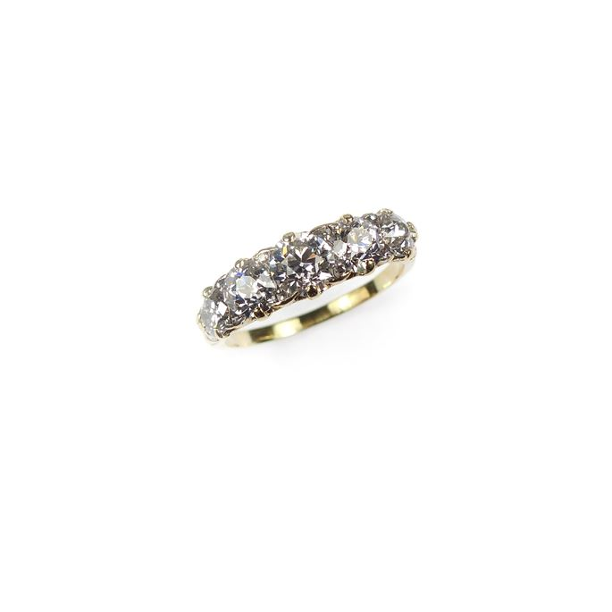 Antique diamond five stone ring | MasterArt