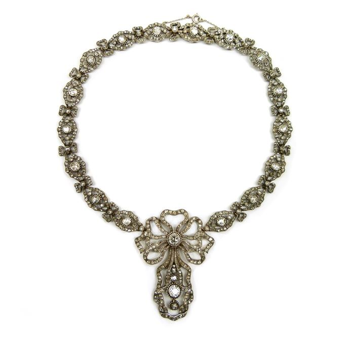 Cartier - Antique diamond pendant necklace  of 18th century style | MasterArt
