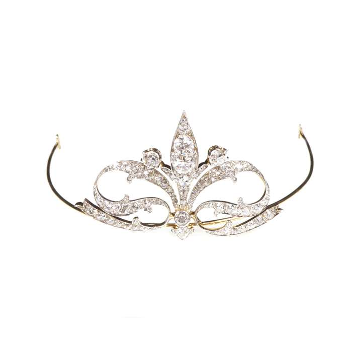 Antique diamond scroll tiara/headpiece by Tiffany