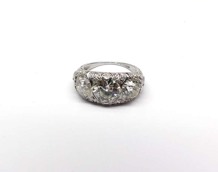 Antique diamond three stone ring